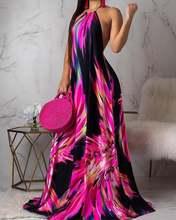 Женское Повседневное платье без рукавов праздничное макси с