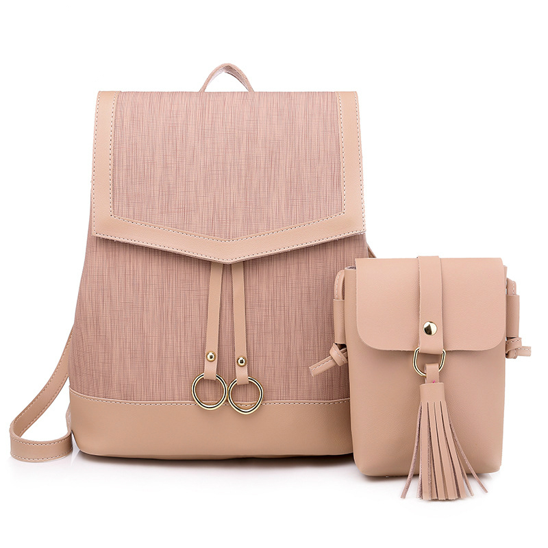 Fashion Retro Backpack 2019 New Fashion Ladies Shoulder Bag College Backpack Simple Wild Bag Multi Function Fashion Backpack in Backpacks from Luggage Bags