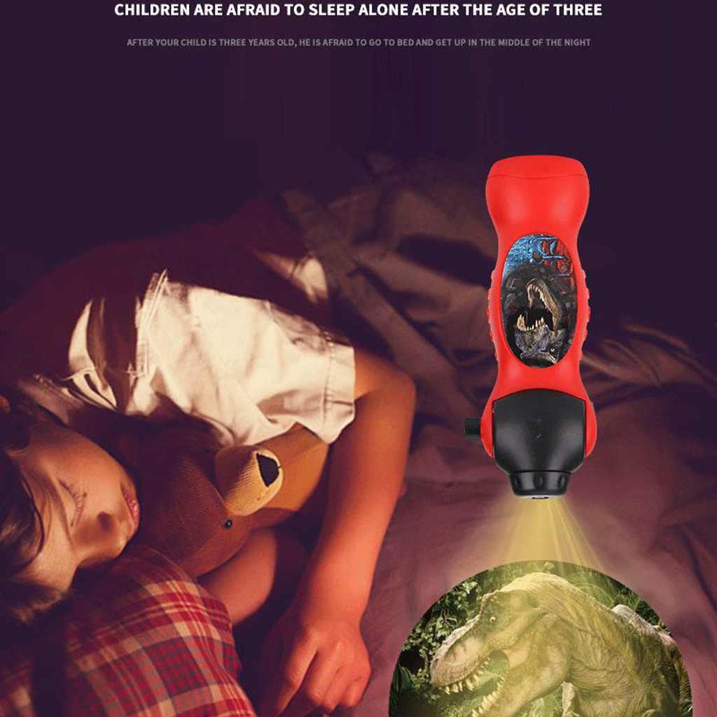 24 Patterns Flashlight Children Toys Cartoon Dinosaur Projector Lamp