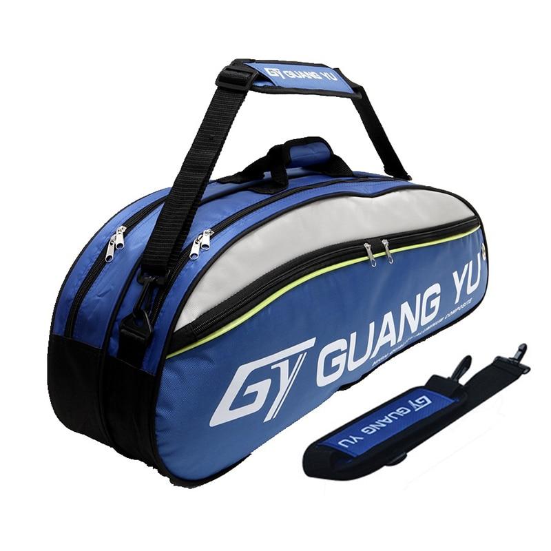 Large capacity squash racket badminton racket bag functional tennis racket badminton cover case for racket tennis gymbag sport