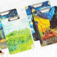Папка для документов Ван Гог Картина маслом папка с зажимом A4 доска для письма папка доска для рисования блокнот для документов Органайзер