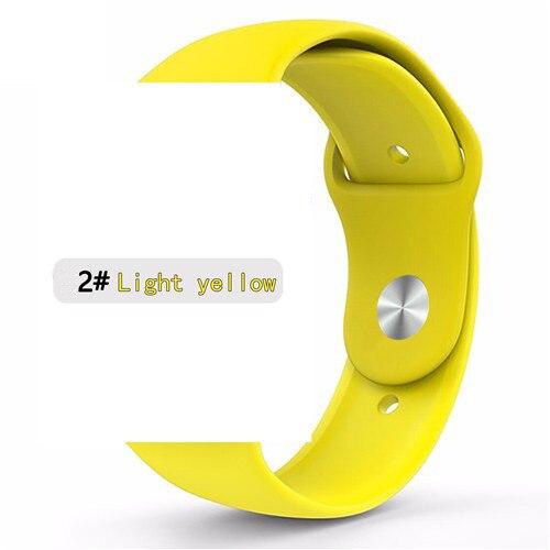 Ремешок для apple watch band 44 мм/40 мм iwatch band 5 4 42 мм 38 мм correa pulseira watch band для apple watch 5 4 3 браслет 44 мм - Цвет ремешка: yellow 2
