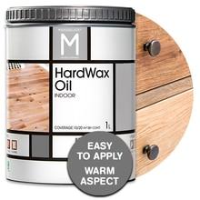 Masquelack HardWax Oil, Hardwax Oil wax for Wood indoor use, 1L, Universal varnish for Wood, floors, doors, furniture