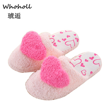 Brand Lovely Ladies Home Floor Soft Women Indoor Slippers Outsole Cotton-Padded Shoes Woman Winter Women Slippers Zapatos Mujer