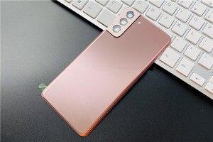 Image 3 - S21Plus tylna pokrywa do Samsung Galaxy S21 Plus obudowa naprawa drzwi baterii wymień tylną obudowę + obiektyw aparatu Logo