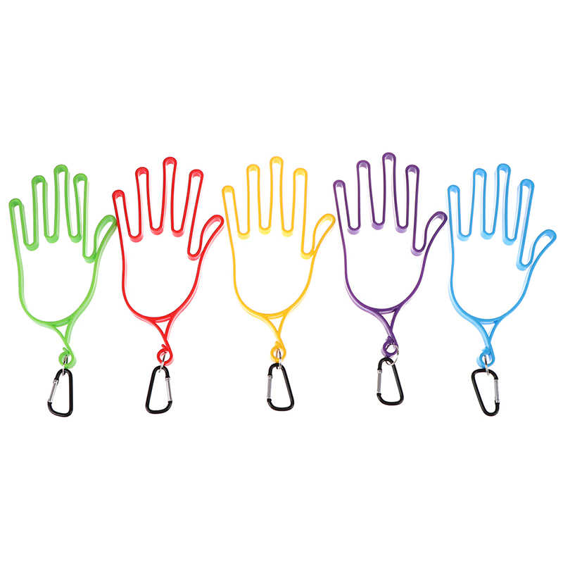 2020 1 X rękawice golfowe nosze sprzęt Golfer plastikowe ABS rękawice golfowe uchwyt Rack suszarka wieszak nosze z paskiem