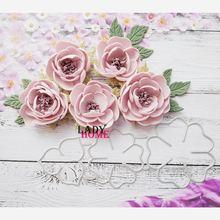 3 шт металлическая Форма для высечки розы цветы трафарет рукоделия