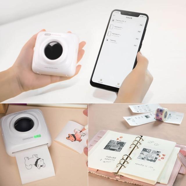 Original Xiaomi PAPERANG P1 Pocket Mini Photo Printer 200dpi BT4.0 Phone Connection Wireless Portable Thermal Printer Clearly 5