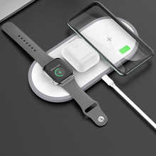 HOCO 3in1 Wireless Charger สำหรับ iPhone 11 Pro X XS MAX XR สำหรับ Apple 5 4 3 Airpods Pro QI FAST Charger สำหรับ Samsung S20