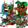 The Tree House Small Building Blocks Sets With Steve Action Figures Compatible My World  Sets Toys For Children