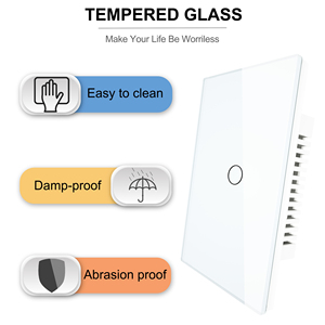 Image 4 - Smart Wifi Touch Switch No Neutral Wire Required Smart Home 1/2/3 Gang Light Switch 220V Support Alexa Tuya App 433RF Remote