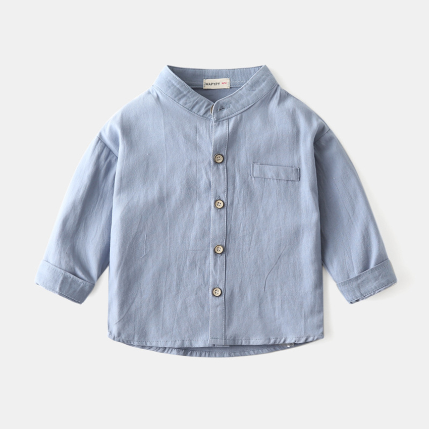 Benemaker 2020 Baby Spring Summer Shirts For Boys Girls Knitted Children Clothing 2-8Y Kids Solid Long Sleeve Shirts AP012