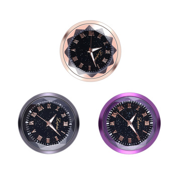 Car Decoration Adhensive Clock Timepiece Auto Interior Ornament Electronic Meter Auto Sticker Watch image