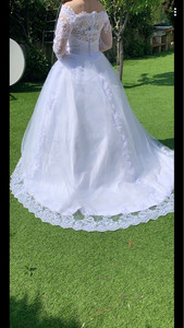 Image 4 - Vestido De Noiva Princess Wedding Dresses 2020 Garden Off Shoulder Sheer Long Sleeve Beaded Arabic Robe De Mariage Bridal Gown
