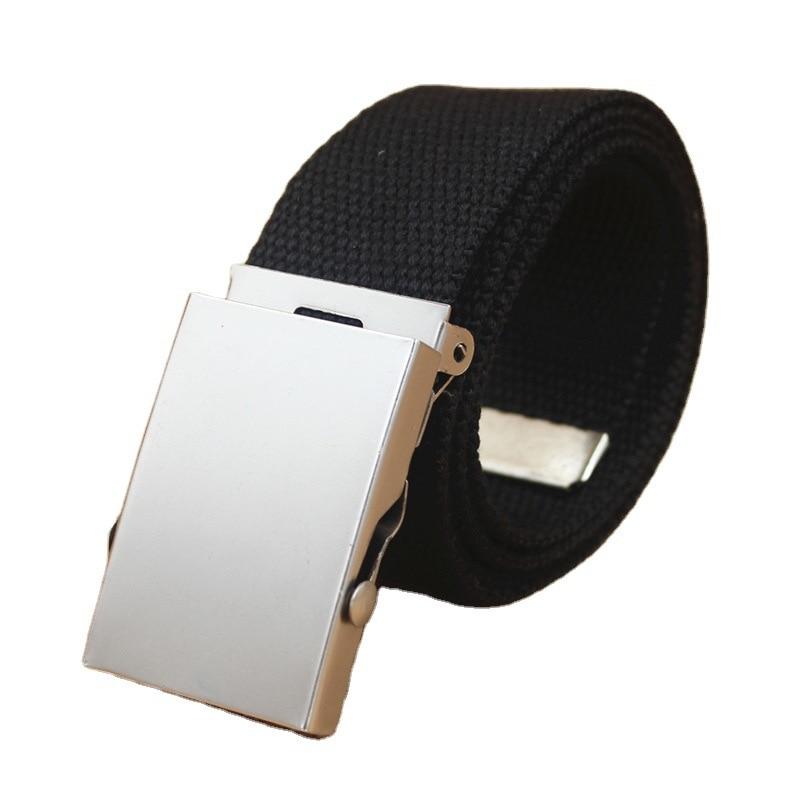 2021 Men and Women Belt Fashion Men and Women Metal General Military Tactical Belt Jeans Men's Casual Luxury Non-slip Belt