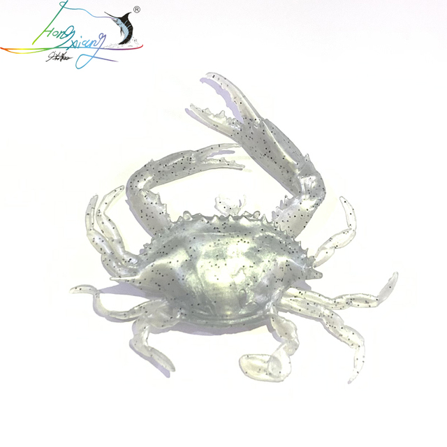 2020  14.6g  silicone road bait 3D simulation crab bait sea fishing bait fishing tackle sea crab bait fishy smell