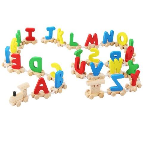 letra trem de madeira alfabeto ferroviario abc alfabeto trem pre escolar criancas crianca brinquedo