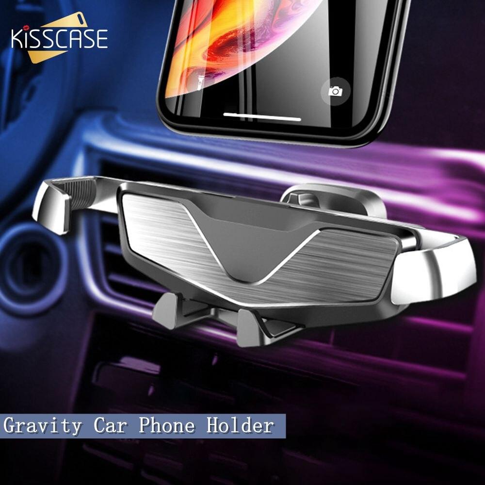 KISSCASE gravité Voiture téléphone Support pour samsung S9 GPS Navigation Support de téléphone supports de Voiture pour iPhone 11 Support Smartphone Voiture