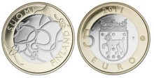 Finland 2011 Regional Series Jaime Province 5 Euro Bimetal Commemorative Coin Unc 100% Original Coins Real Euro Coin недорого