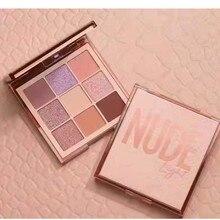 HUDAMOJI Medium Nude Obsessions 9 Colors Eye Shadow Matte Glitter Eyeshadow Powd