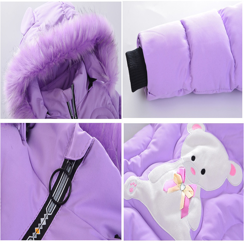 Image 5 - Girls Down Jackets Baby Outdoor Warm Clothing Boys Thick Coats Windproof Children's Winter Jackets Kids Cartoon Winter Outerwear-in Down & Parkas from Mother & Kids