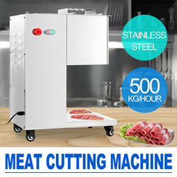 110V / 220V Stainless steel Fresh meat Cutting machine, Meat cutter Hobel, 500kg output