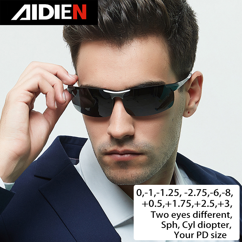 Myopia Sunglasses Diopter Prescription Polorized Drive Men Sph-0.5-1-1.5-2-2.5-3-3.5-4-4.5-5-5.5-6.0