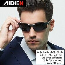 Occhiali da sole di miopia diottrie SPH 0.5 1 1.5 2 2.5 3 3.5 4  4.5 5 5.5 6.0 CYL uomini drive polorized occhiali da vista occhiali da sole