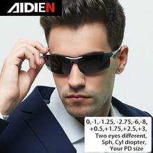 קוצר ראייה משקפי שמש diopter SPH 0.5 1 1.5 2 2.5 3 3.5 4  4.5 5 5.5 6.0 צילינדר גברים כונן polorized מרשם משקפיים שמש