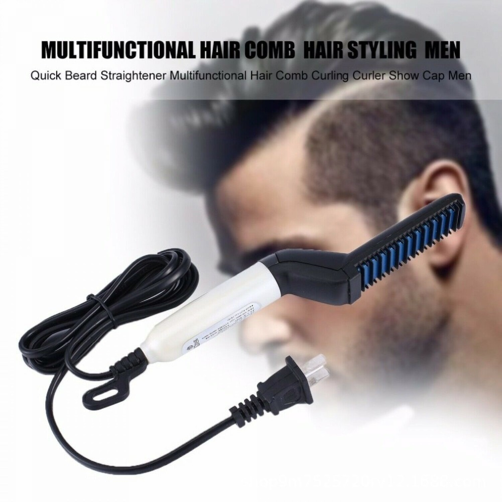 Beard Straighten Comb Brush Multifunctional  Electric Beard Comb And  Quick Hairstyle For Men 7