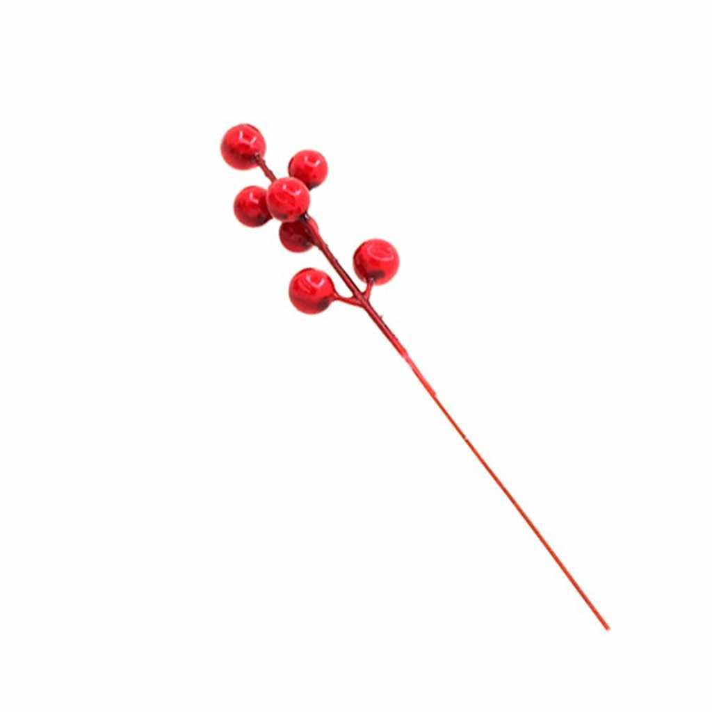 Albero di natale Della Decorazione di Simulazione Berry Di Natale Decorativa Del Pendente 3Pcs Per La Casa di Babbo natale Buon Natale Del Partito 2020