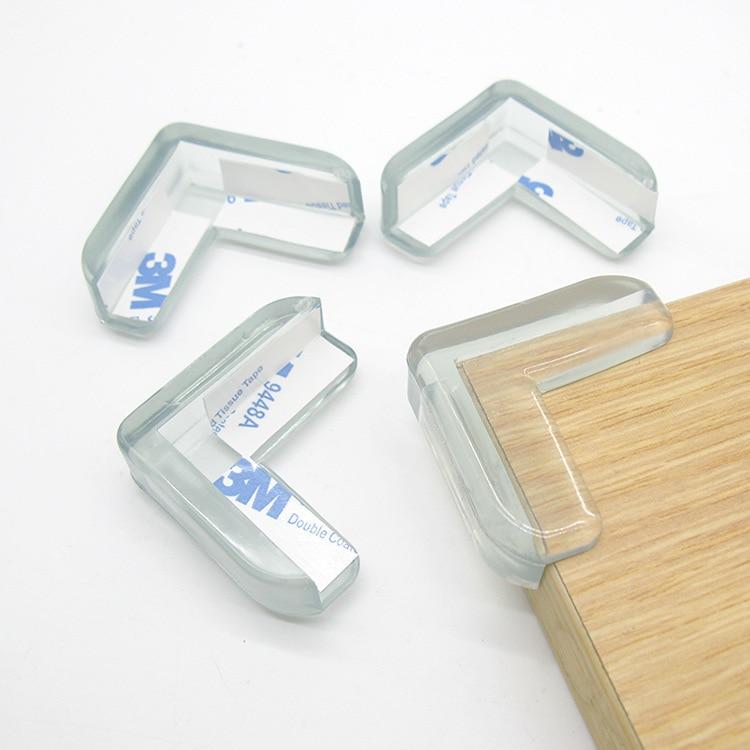 4Pcs/set Baby Safety L Shape Transparent Protector Cover Table Corner Guards Children Protection Furnitures Edge Corner Guards