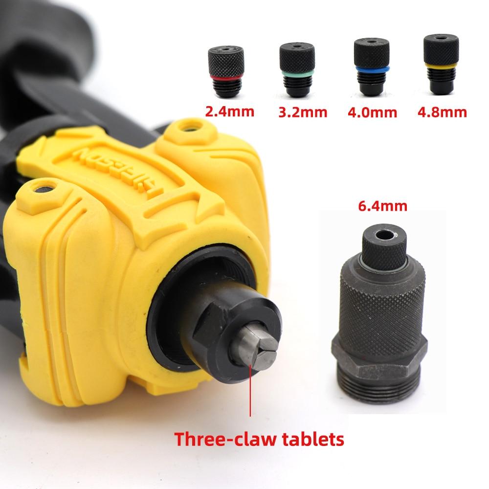 Image 4 - HIFESON Riveter Gun Hand Riveting Kit Nuts Nail Gun Household Repair Tools  Pull Willow Gun threaded rivet insertsRiveter Guns   -
