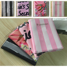 Fashion Men Women Travel Leather Cover Case package card Holder card Floral Protector passport Wallet Credit Passport Card(China)