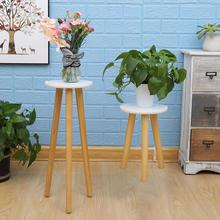 Stool Stand-Shelf Base-Holder Flower-Pot Plant-Stand Wooden Succulent Garden Outdoor