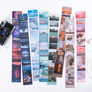 Film Series Sticker Aesthetic Fantasy Sky Holiday Time Memory Journaling Decoration Sticker PET Material Masking Adhesive Tapes(China)