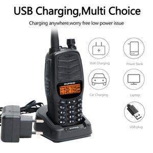 Image 2 - 2pcs 2021 New BAOFENG UV X10 10W Powerful Dual PTT Dual Band VHF/UHF USB Charging Ham 2 Way Radio Update UV 5R Walkie Talkies Tr