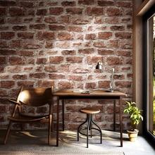 Rustic 3D Vintage Bricks Wallpaper Roll Vinyl PVC Industrial Brick Wall