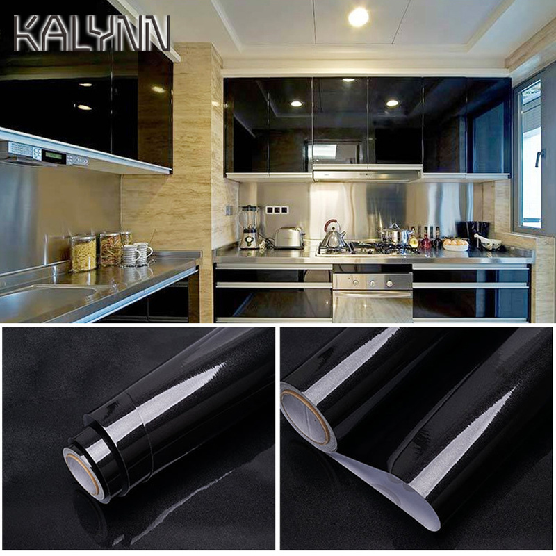 White Black Glitter Self Adhesive PVC Wallpaper Roll for Kitchen Wall Paper Furniture Waterproof Cabinet drawer DIY Wall Sticker