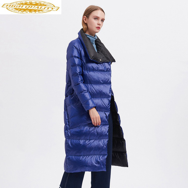 Long Duck Down Jacket Women Autumn Winter Coat Female Puffer Jacket Slim Korean 2020 Coats Casacas Para Mujer Wt005 KJ2600
