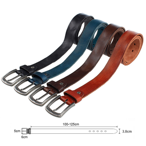 Image 5 - MEDYLA Brand Natural Leather Belt Men Retro Hard Metal Buckle Soft Italian Leather Mens Jeans Belt Mens Accessories Gift