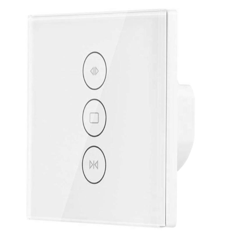 100-240V Electrical Blinds Smart WiFi Curtain Switch 750 Degree Flame Retardant ABS Touch APP Voice Control 50HZ-60HZ