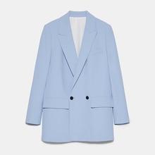 ZA 2020 Women Fashion Solid Color Casual Office Wear Suit Blazer