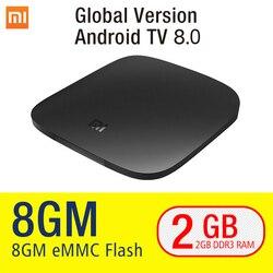Xiaomi MI Box 3 Android TV 8.0 2G+8G Google Certified Support BT Dual-Band WIFI Xiaomi MI Box 3 Android TV 8.1 Quad-core Xiaomi