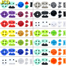 JCD Silicone Rubber Conductive Button & Colorful Plastic D Pads A B Power ON OFF Buttons Keypads for Gameboy Color GBC