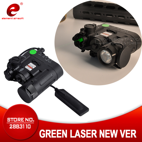 elemento airsoft luz tatica dbal d2 verde ir laser luz tocha dbal lampada de caca