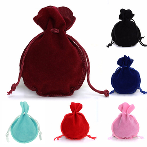 LOULEUR 10pcs/lot 6Color Fashion 7*9cm Velvet Bag Drawstring Pouch Jewelry bag Calabash Shape Packing Wedding/Christmas Gift Bag