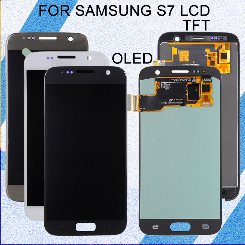 Catteny 5.1inch <font><b>S7</b></font> Lcd G930F <font><b>Display</b></font> For <font><b>Samsung</b></font> <font><b>Galaxy</b></font> G930 Lcd With Touch Screen Digitizer Assembly SM-G930F G930 <font><b>Display</b></font> image