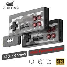 Retromaxビデオゲームコンソールレトロゲームビルドの1400 + ファミコンゲームミニコンソールav/hdmi出力テレビプラグアンドプレイ