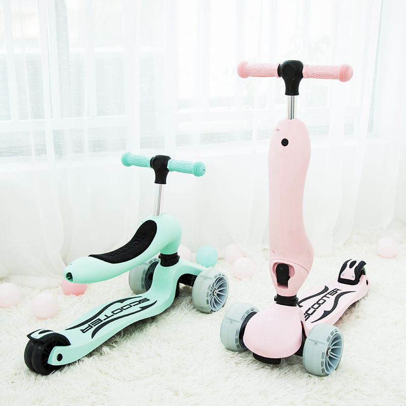 Multifunctional Three-in-one Child Widening Scooter Beginner Baby 1-3-6 Years Old Can Ride Yo-yo Infants